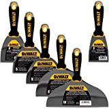 DEWALT DELUXE Stainless Steel Putty Knife Set | 4/5/6/8/10-Inch + 3-Inch Included for FREE | Soft Grip Handles | DXTT-3-139