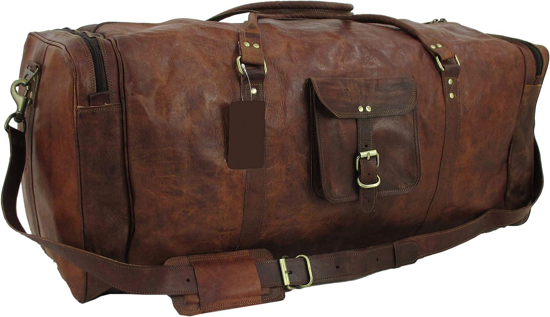 Yuge Bear 32 DS3 XXL Oversized Vintage Genuine Leather Travel Duffel Bag