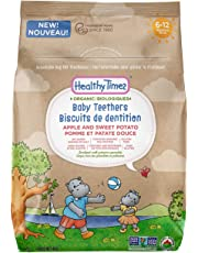 Healthy Times Organic Baby Teethers, Apple & Sweet Potato | 6 Ingredient Teether Snack, Easily Dissolves Without a Mess | For Babies 6-12 Months | 48 g Bag, 1 Count