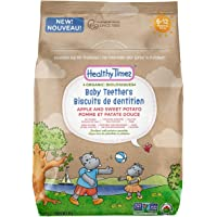 Healthy Times Organic Baby Teethers, Apple & Sweet Potato   6 Ingredient Teether Snack, Easily Dissolves Without a Mess   For Babies 6-12 Months   48 g Bag, 1 Count