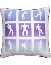 Fortnite Official Square Cushion Pillow | Officially Licensed Super Soft Two Sided Boogie Bomb Design | Perfect for Any Children's Room Or Bedroom, Purple, 40 x 40cm