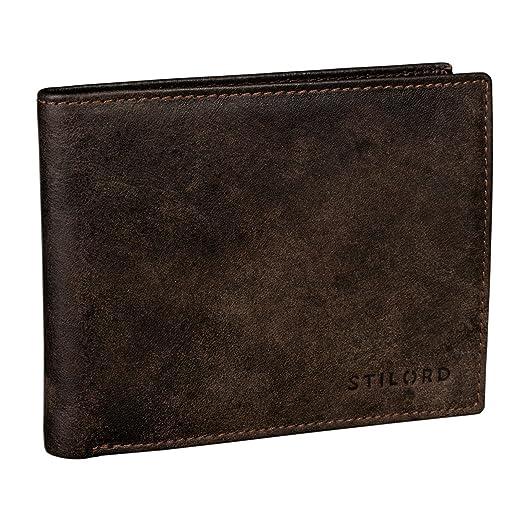 30 opinioni per STILORD Portafoglio uomo vintage in pelle marrone Elegante portafogli per Carta