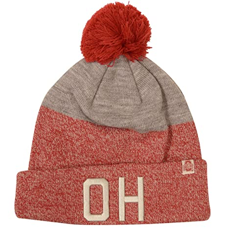 a14758595f72c1 Image Unavailable. Image not available for. Color: Top of the World Ohio  State Buckeyes OH IO Knit Hat with Pom