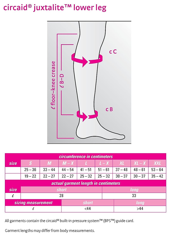 5d32e8b394cb88 Amazon.com: Juxta-Lite Compression Legging W/Anklet (L) Long: Health &  Personal Care