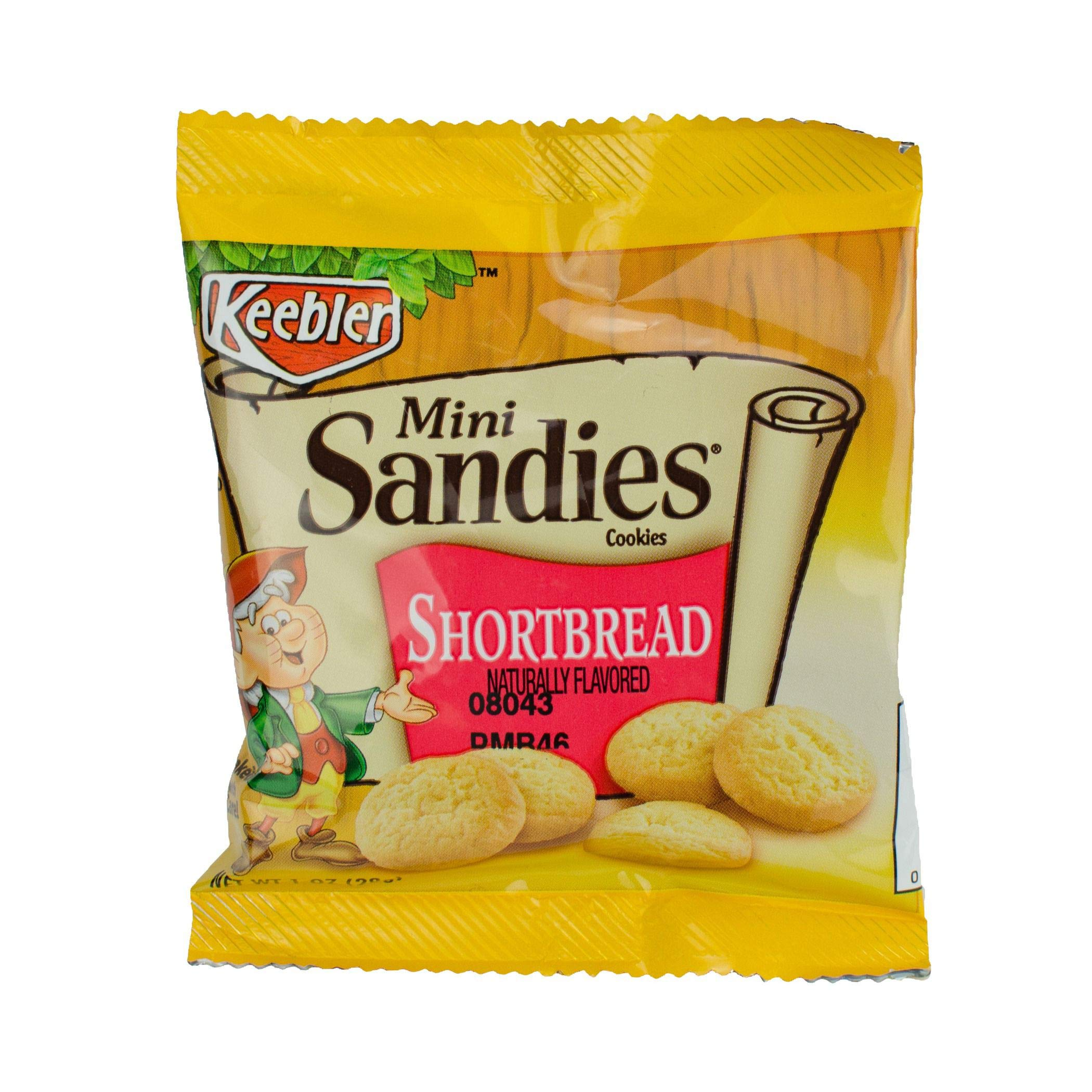 Keebler Sandies Mini Pecan Shortbread Cookie, 1 Ounce - 100 per case.