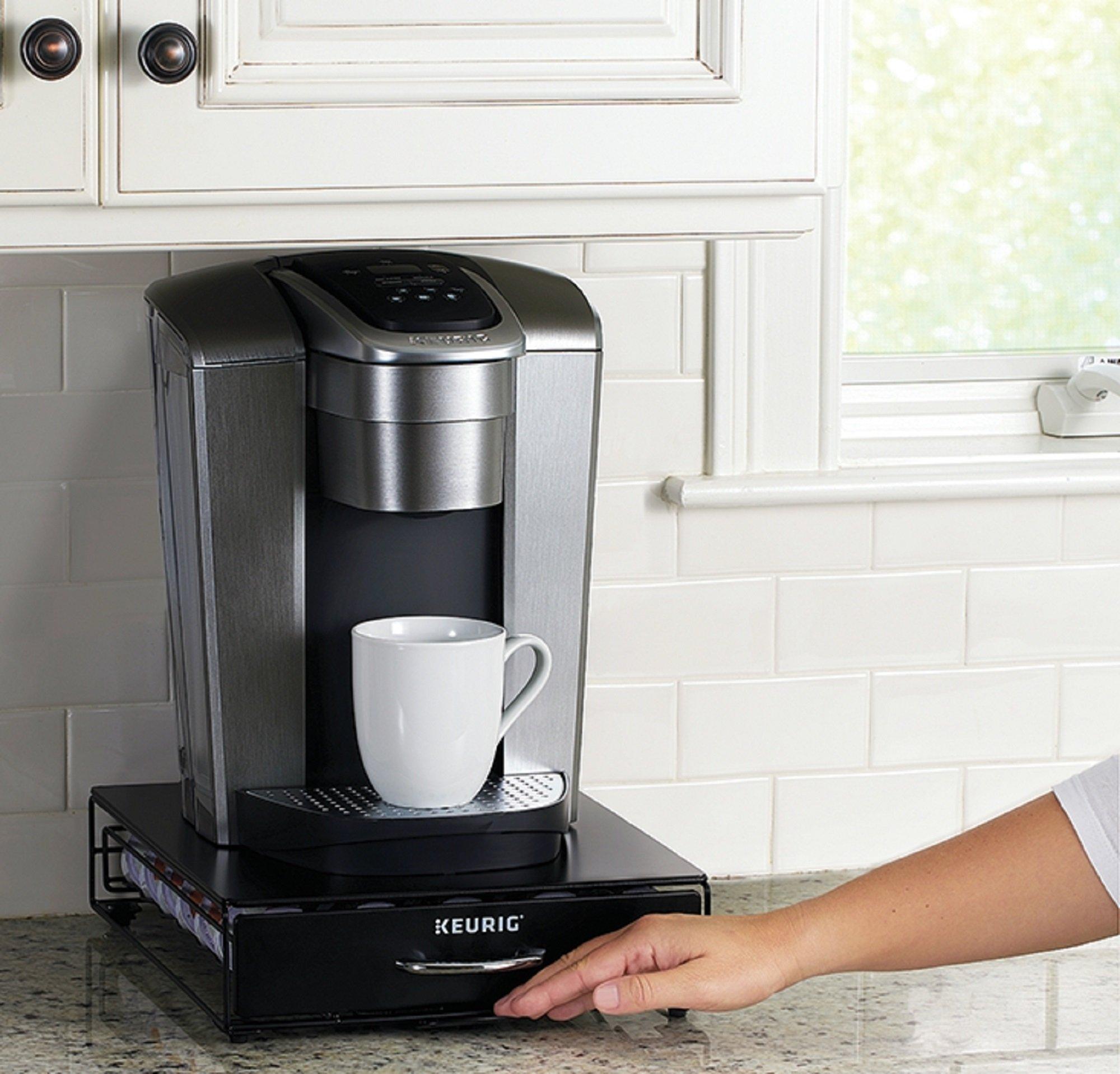 Keurig Under Brewer Storage Drawer, K-Cup Pod Organizer Holds 35 Coffee Pods, Fits Under Keurig K-Cup Pod Coffee Makers, Black by Keurig (Image #5)