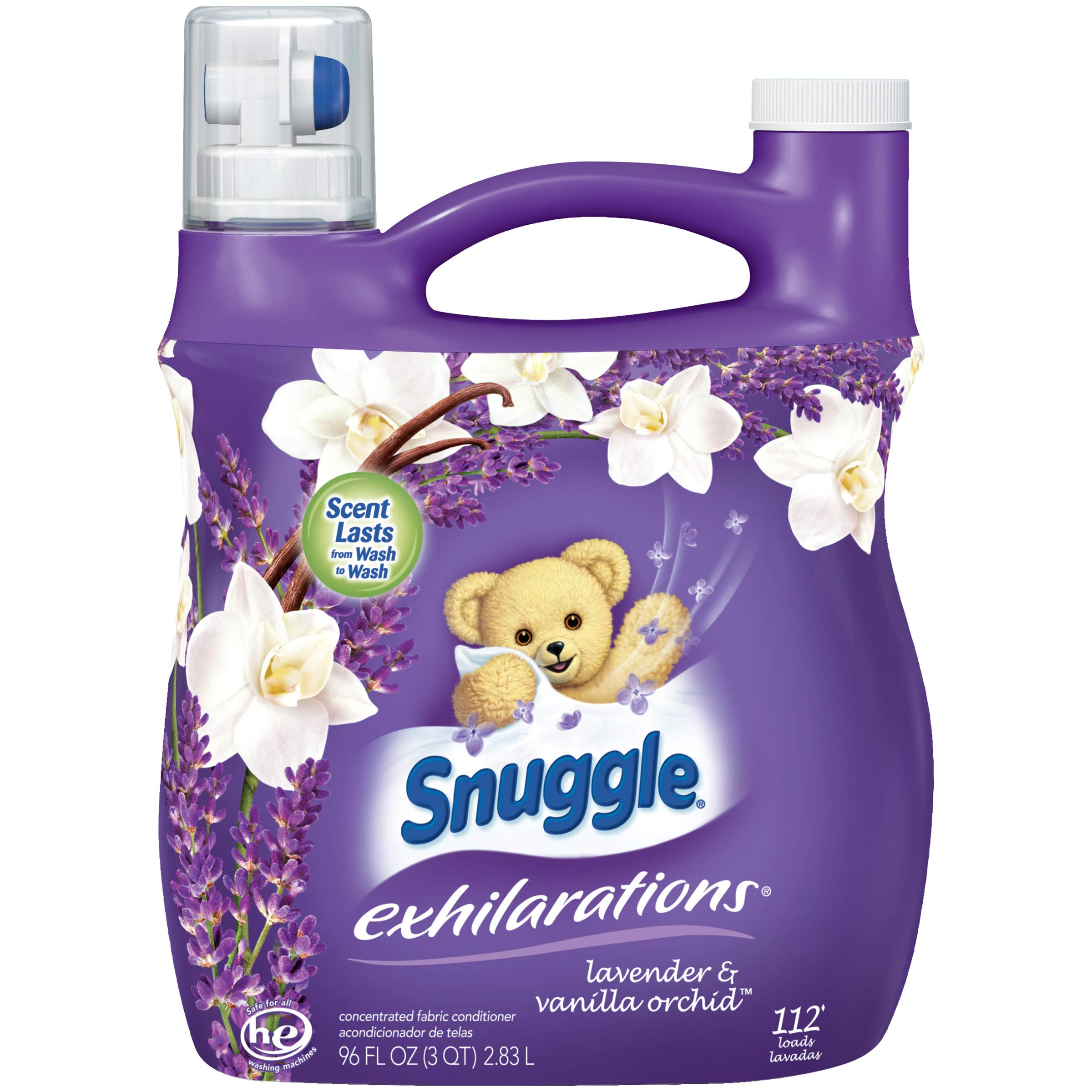 Snuggle Exhilarations Liquid Fabric Softener, White Lavender & Sandalwood Twist, ...