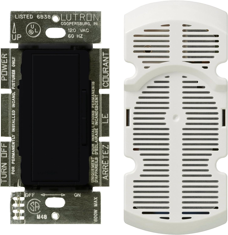 Lutron MA-FQ4FM-BL Maestro Multi-Location 7-Speed Digital Fan Control, Black