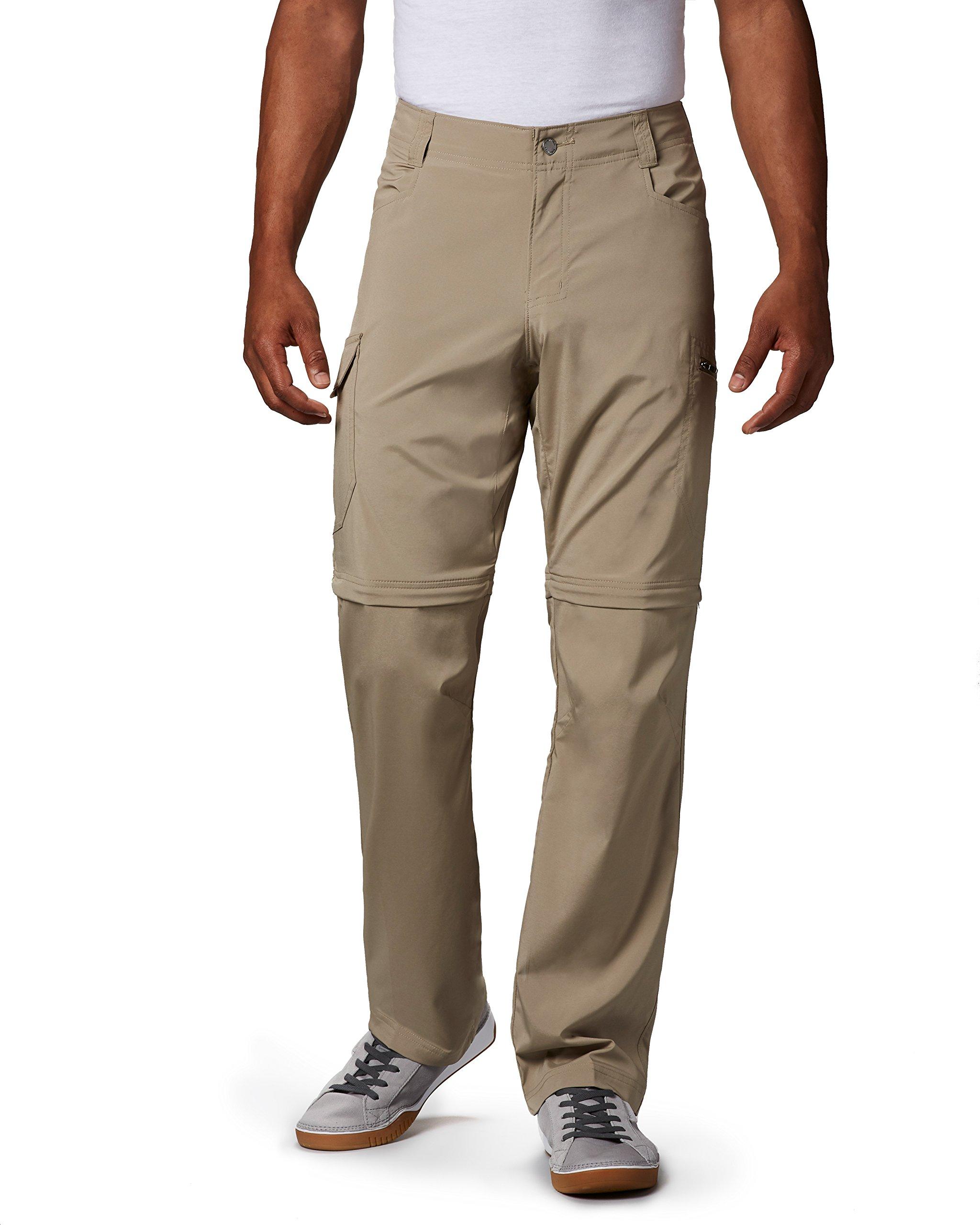Columbia Men's Silver Ridge Stretch Convertible Pants, Tusk, 34 x 30