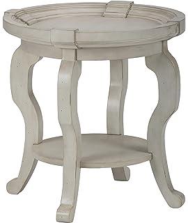 Amazoncom Jofran Sebastian Round Coffee Table In Antique Cream - Antique cream coffee table