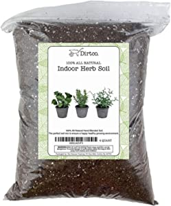 Soil Mixture for Indoor Herb Planters, Specially Blended Soil Mixture for Planting and Growing Indoor Kitchen Herbs Indoors, Indoor Herb Garden, Herb Growing Soil Mixture 4qt
