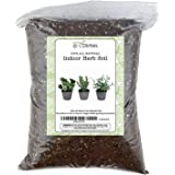 Soil Mixture for Indoor Herb Planters, Specially Blended Soil Mixture for Planting and Growing Indoor Kitchen Herbs Indoors,