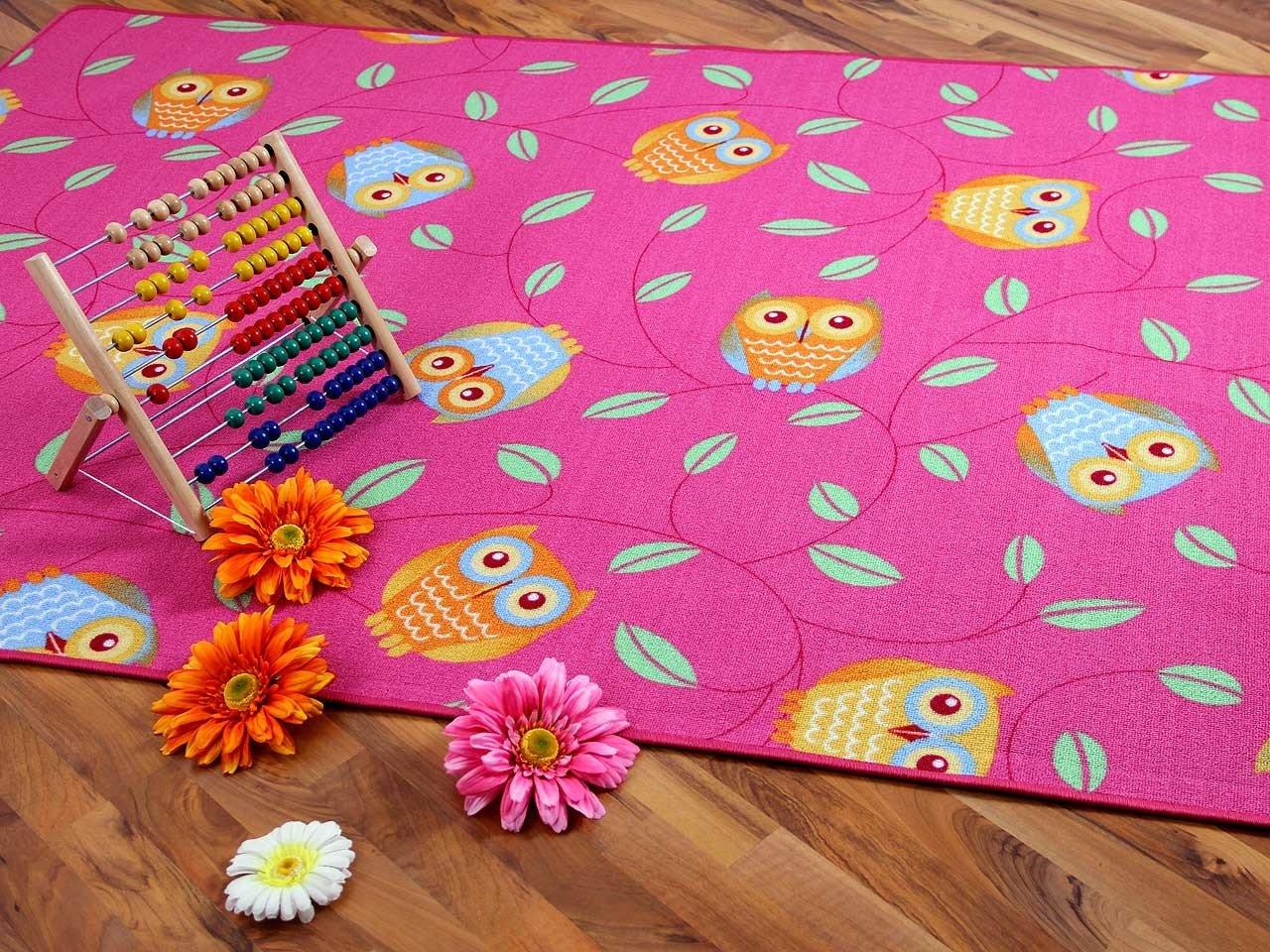 Kinder Spielteppich Eule Lila Pink Rosain 24 Größen