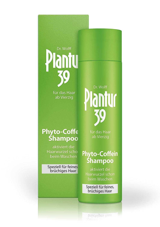 Plantur 39 Phyto Coffein Shampoo Speziell Für Feines Und Brüchiges Haar Pflegeshampoo Zur Vorbeugung Vor Menopausalem Haarausfall 1 X 250 Ml Beauty