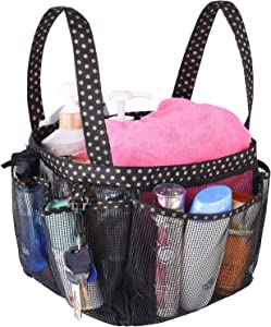 Haundry Mesh Shower Caddy Portable for College Dorm, Large Bathroom Tote Bag with 8 Pockets