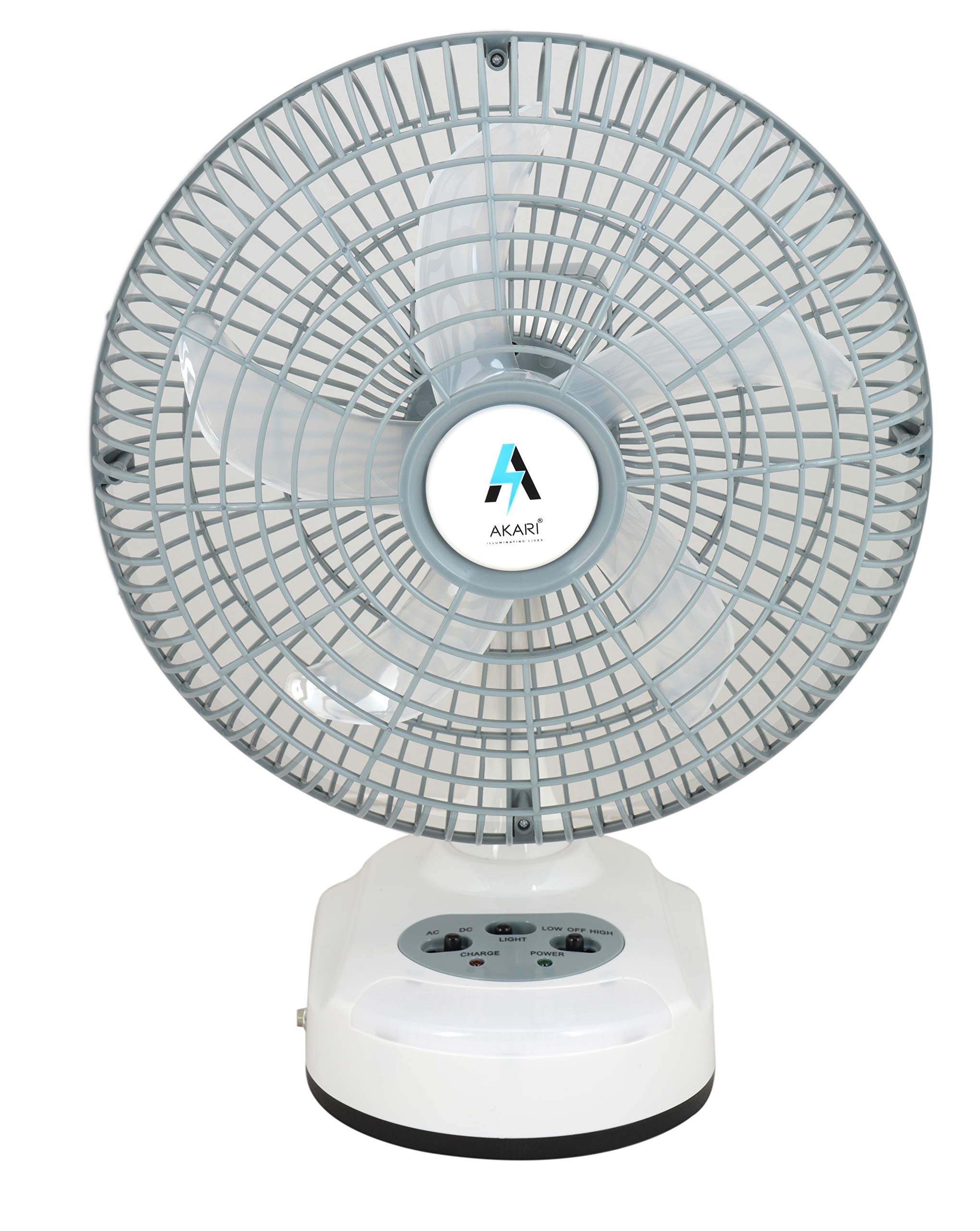 Akari Ak 8010 10 Inch Table Fan With Ac Dc Facility And Emergency