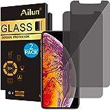Ailun 隐私屏幕保护膜兼容 iPhone Xs Max(6.5 英寸 2018 版本),[2 件装],钢化玻璃,兼容 iPhone Xs Max(6.5 英寸 2018 版本),防划痕,保护套友好,Siania 零售包装
