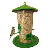 Just Click Fashion Bird Feeder (Medium, Green)