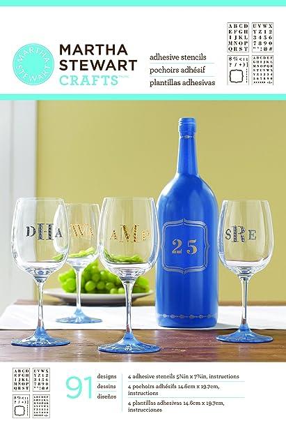 Martha Stewart Crafts Glass Adhesive Stencil, 33270 Bold Serif Alphabet