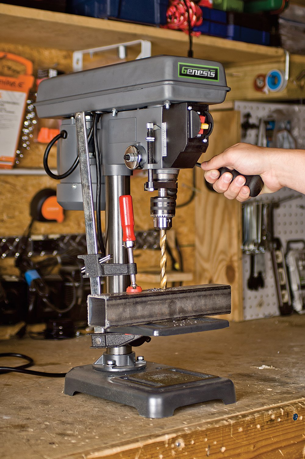 Genesis GDP805P 8 In. 5-Speed 2.6 Amp Drill Press with 1/2 In. Chuck & Tilt Table, by Genesis (Image #3)