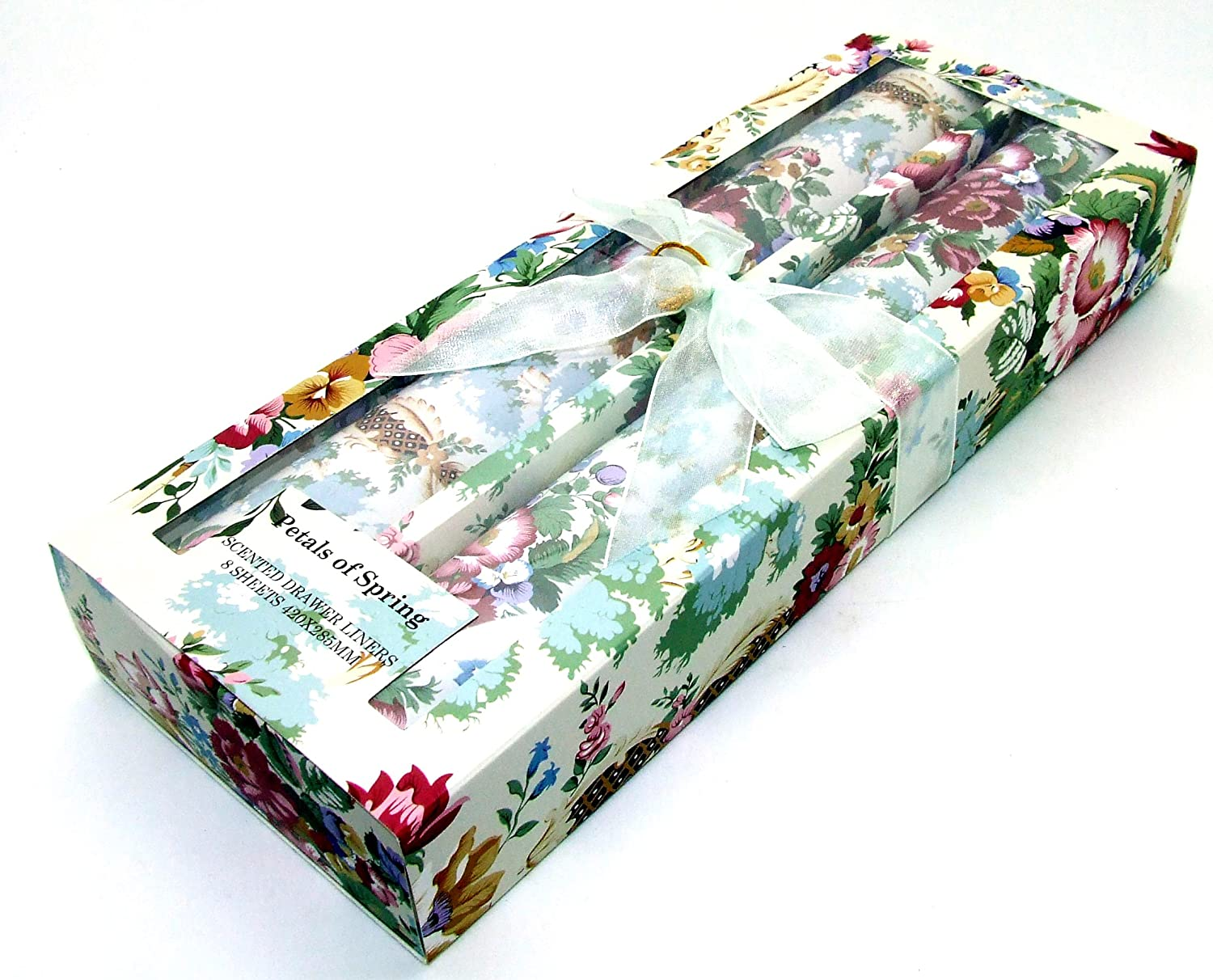 Scented Perfumed Fragranced Drawer Liners - Petals of Spring Pack of 8 Sheets - Floral Pattern 42 x 28.5cm Unbranded