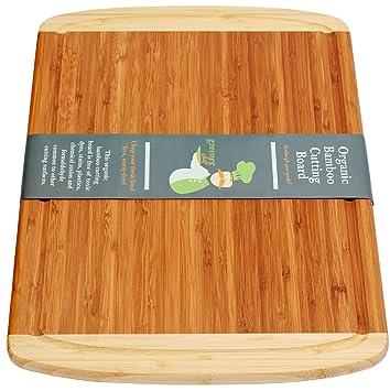 Tagliere in bambù Naturale Grande per Cucina - Nuovo Design Anti ...