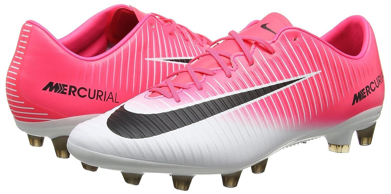 Nike Mercurial Veloce III AG-Pro, Chaussures de Football Homme, Rose (Racer Pink/Black-White-White), 42 EU