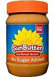 SunButter Sunflower Butter Allergen Free All Natural Alternative to Peanut Butter (No Sugar Added, 16 Ounce Jars Pack of 6)