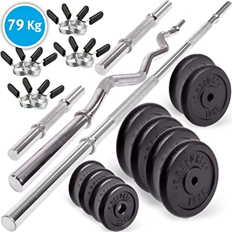 Set de mancuernas C.P. Sports Premium de 20 kg, de hierro fundido ...