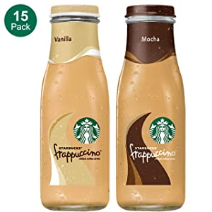 Starbucks Frappuccino, 2 Flavor Variety Pack, 9.5 Fl Oz (15 Count)