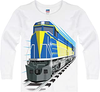 product image for Shirts That Go Little Boys' Long Sleeve DieselTrain T-Shirt