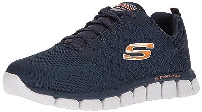 Skechers Herren Skech-Flex 2.0 Sneaker, Blau (Navy), 39 EU
