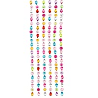 Baker Ross Flower & Teardrop Self-Adhesive Acrylic Jewel Stickers for Crafting Making Cards and Decorating Collages (Pack of 138)