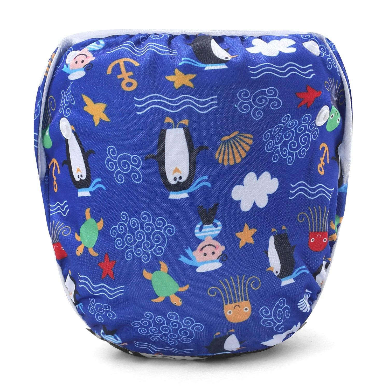 Storeofbaby Baby Swim Diaper Reusable Adjustable Swimwear for Newborn Infant 0-3 Years