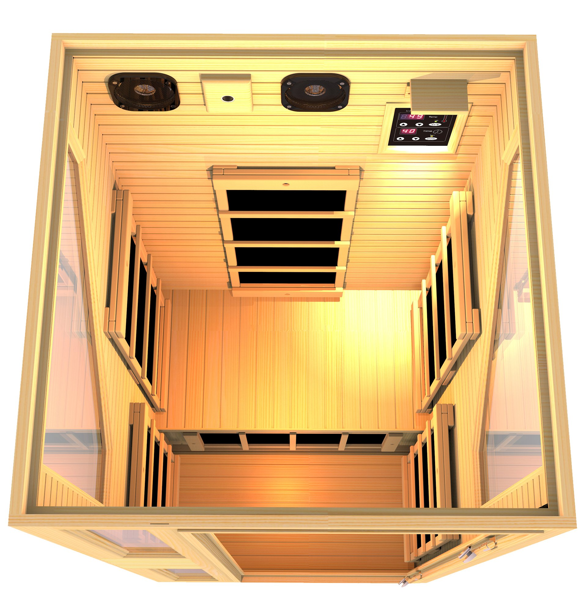 JNH Lifestyles NE1HB1 ENSI Collection 1 Person NO EMF Infrared Sauna Limited by JNH Lifestyles (Image #4)