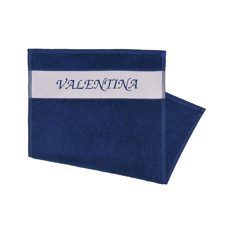 Asciugamano ospite, Stampa con nome valentina Blu Multifanshop