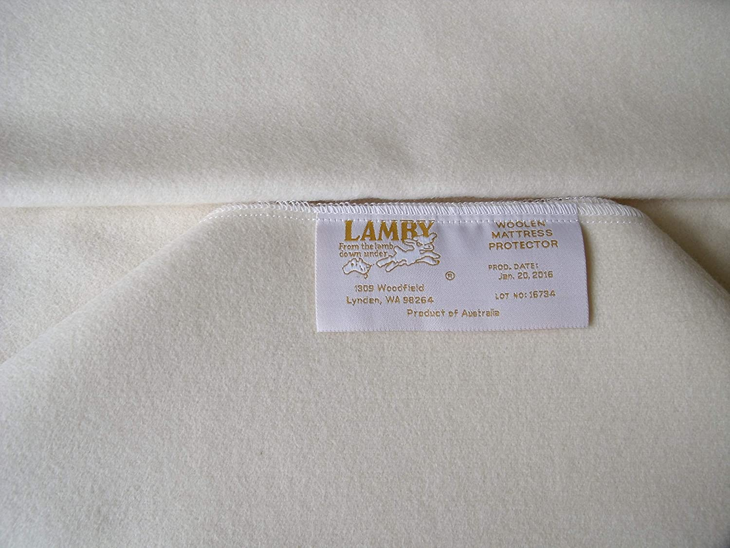"Lamby Natural Wool Crib Mattress Protector Fast Drying Puddle Pad – 28"" X 48 """