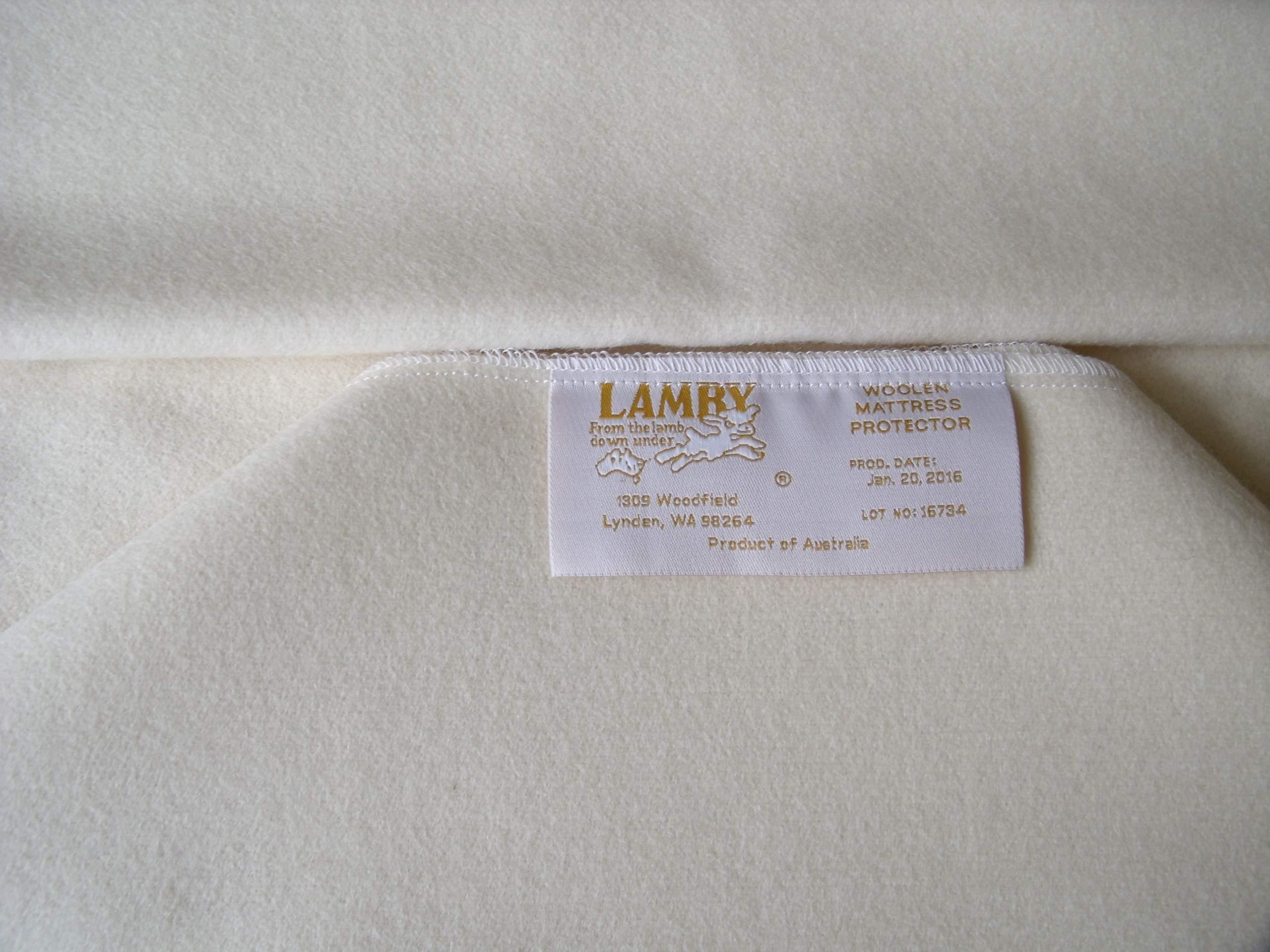 "Natural Wool Crib Mattress Protector by Lamby – Fast Drying Puddle Pad – 24"" X 32 """