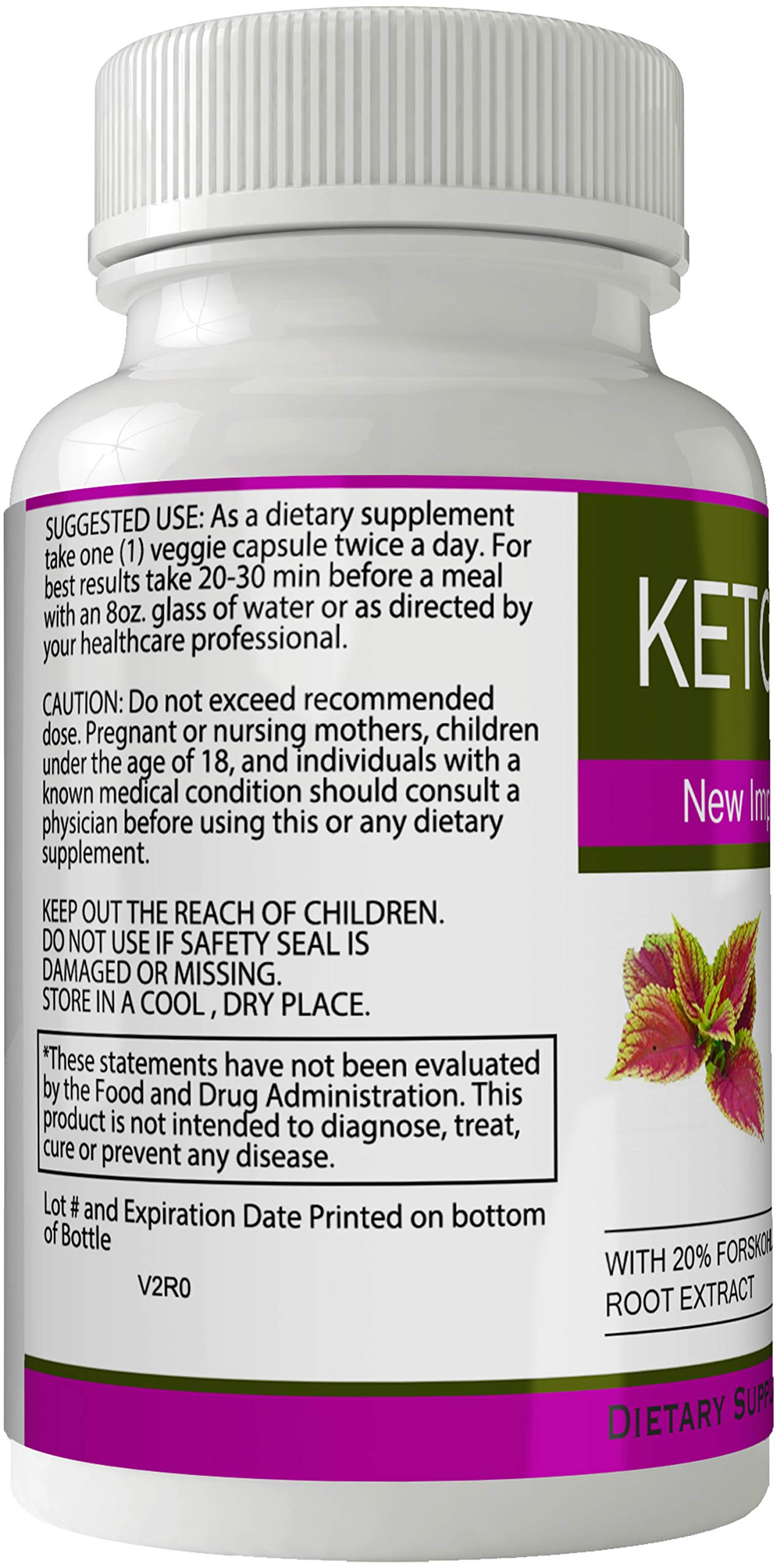 Ketobloom Forskolin for Weight Loss Diet Pills Supplement Capsules with Premium Forskolin Extract Tablets   Keto Bloom High Quality Natural Weightloss by nutra4health LLC (Image #3)