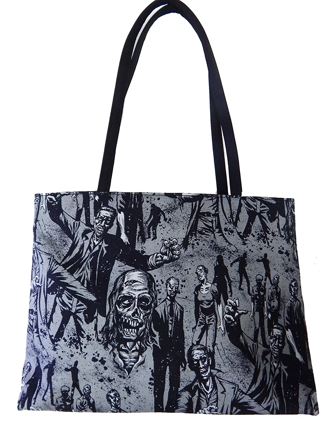 """US HANDMADE FASHION SHOULDER BAG WITH """"ZOMBIE CHARCOAL"""" Pattern Purse , DF 1313"""
