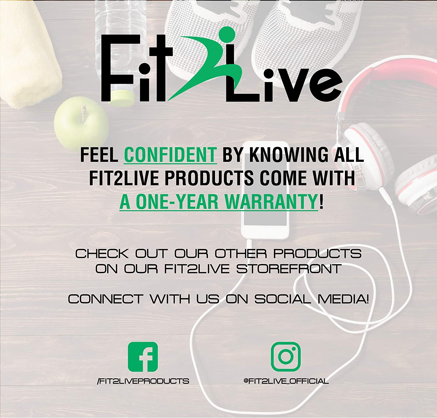 Fit2Live Jump Rope Boxing Armband Adjustable and Comfortable Rubber Handles for Endurance Workout Plus Access to Our APP for Workouts MMA Martial Arts Weight Loss for Men and Women