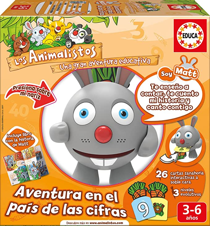 Educa Borrás- Matt el Conejo Animalisto (17245): Amazon.es ...