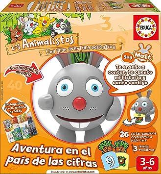 Oferta amazon: Educa Borrás- Educa-Los Animalistos Matt: Aventura en el País de Las Cifras. A Partir de 3 años. Aniamlista Conejo (17245)