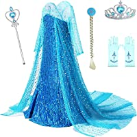 TIANYOU Princess Costumes Birthday Party Dress Up Clothes for Little Girls with Accessories