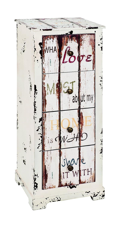 27 x H 76 cm Haku M/öbel Cassettiera Vintage,W 30 x D