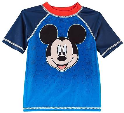 65efba9d Disney Mickey Mouse Toddler Boys Raglan Rashguard 2T Blue/red