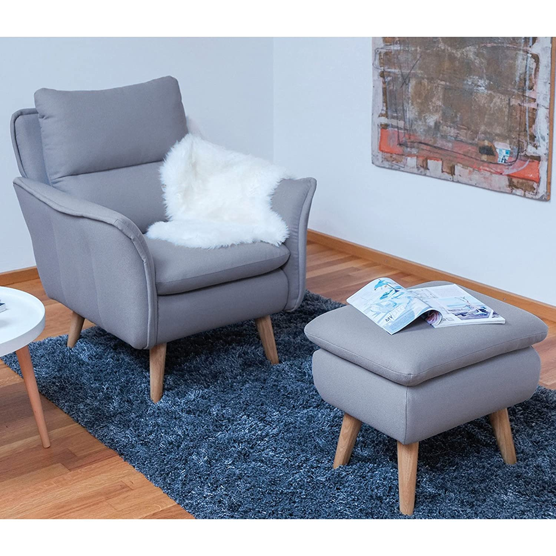 Relax Sessel skandinavisch + Hocker als Ohrensessel modern im ...