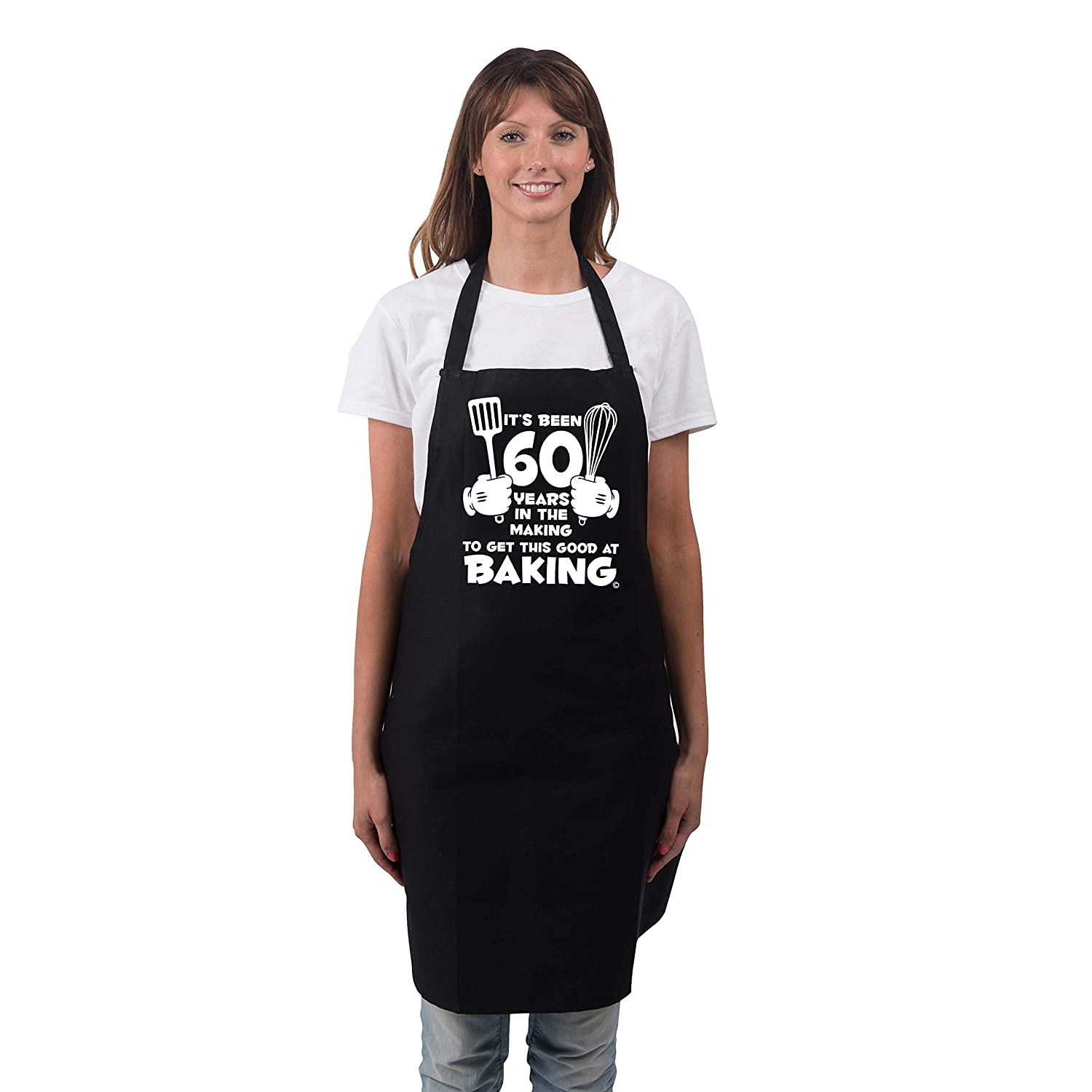 Bang Tidy Clothing Womens 60th Birthday Gift Apron Its Been 60 Years 1958 Aprons Gifts RA619 Christmas Holiday