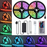 LED Strip Lights, JR INTL 32.8FT / 10m 300 LED RGB LED Light Strip 5050 LED Tape Lights, Color Changing LED Strip Lights…