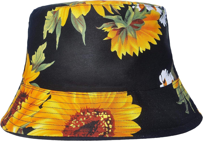 ZLYC Unisex Blumen Pflanze Regenwald-Druck Leinwand Sonnenhut Strandhut Fisherm/ütze